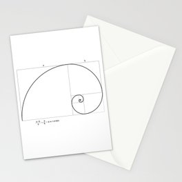 Golden Ratio - Minimalist Phi φ Stationery Cards