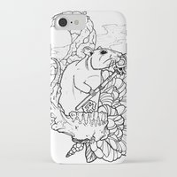 rat iPhone & iPod Cases featuring Rat by Ruff Worlock