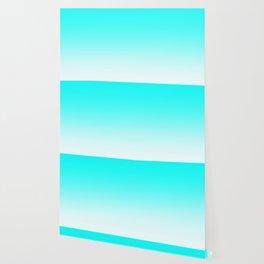 Aqua to White Ombre Wallpaper