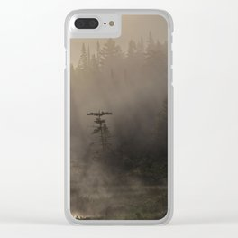 misty morning on moose river Clear iPhone Case