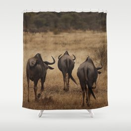The Three Wildebeest Shower Curtain