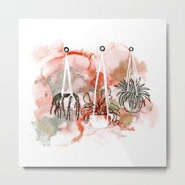alcohol ink - hanging plants Metal Print
