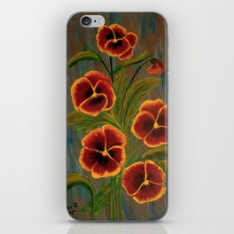Pansies-2 iPhone Skin
