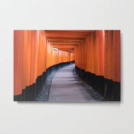 Fushimi Inari pathway Metal Print