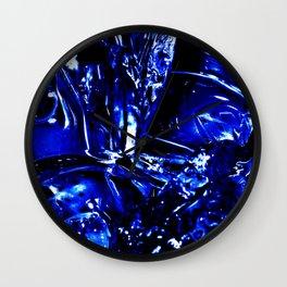 Liquid Cobalt Metal Wall Clock