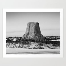 Devil's Tower Wyoming Art Print