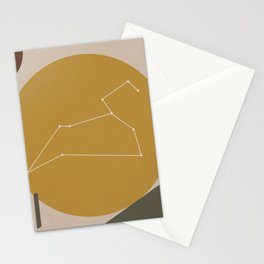LEO (MID-CENTURY MODERN ART) Stationery Cards