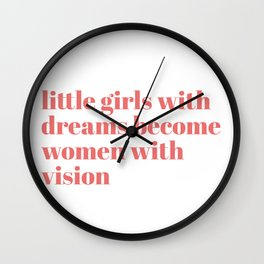 little girls with dreams Wall Clock