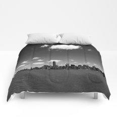 NYC Skyline B&W Comforters