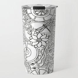 Koi Pond Coloring Page Travel Mug