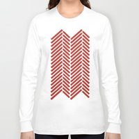 herringbone Long Sleeve T-shirts featuring Herringbone Candy by Project M
