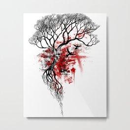 The Skull Tree Metal Print
