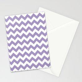 Lavender Chevron Print Stationery Cards