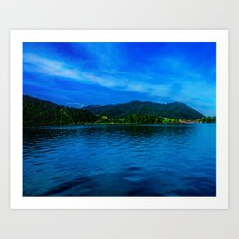 Bavaria Lake Schliersee Art Print