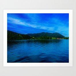 Bavaria Lake Schliersee Art Print