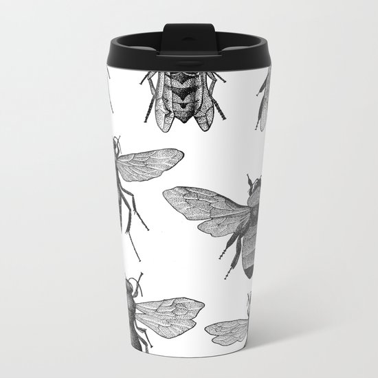 Bees and Wasp Metal Travel Mug