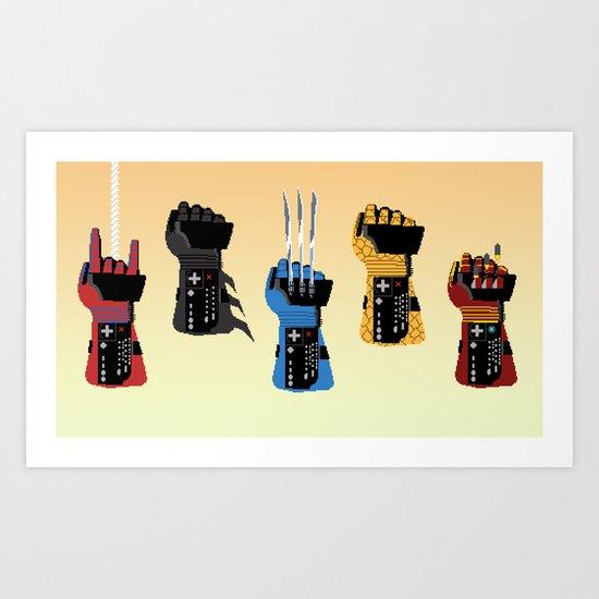 Power Glove Love Art Print