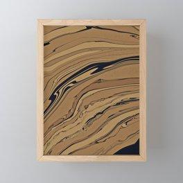 Topaz and Sandstone Framed Mini Art Print