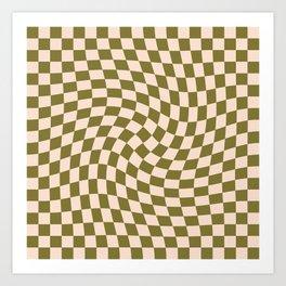 Check VI - Green Twist Art Print