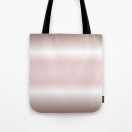 Dusky Pink Mauve Gradient Stripes Tote Bag