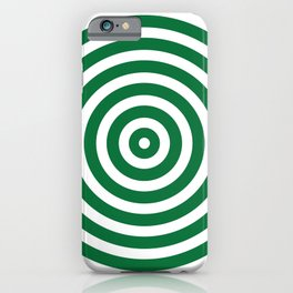 Circles (Olive & White Pattern) iPhone Case