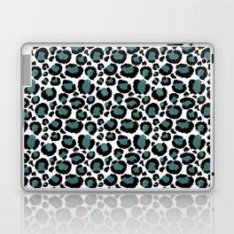 Teal Leopard Animal Print Pattern Laptop & iPad Skin