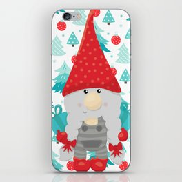 Holiday Gnome with gifts iPhone Skin
