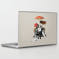 eugenia loli Laptop & iPad Skins featuring Upper Class Dealer by Eugenia Loli