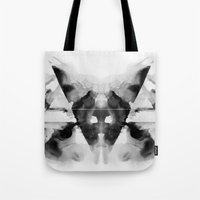dark side of the moon Tote Bags featuring Dark Side by Alexis Marcou
