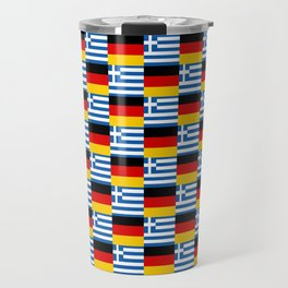 Mix of flag : Germany and greece Travel Mug
