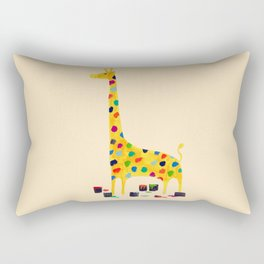 Paint by number giraffe Rectangular Pillow