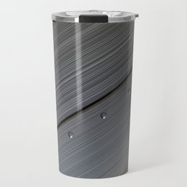 Brushed metal plate with rivets Travel Mug