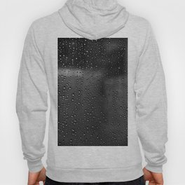 Black and White Rain Drops; Abstract Hoody