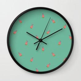 Bunny Flower Pattern Wall Clock