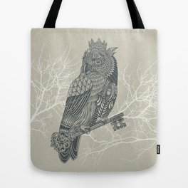 Owl King Tote Bag
