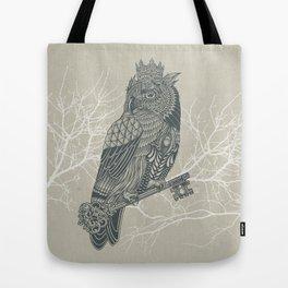 Owl King Tote Bag