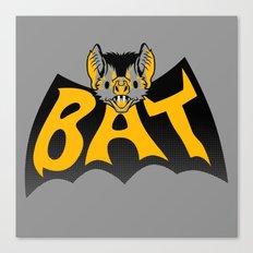 bat in a batshape Canvas Print