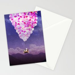NEVER STOP EXPLORING IV PINK BALLOONS Stationery Cards