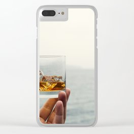 Sea Salute Whiskey Rocks Clear iPhone Case
