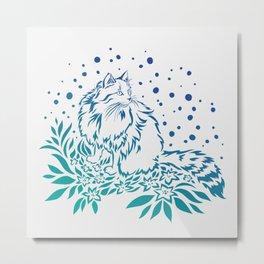 Snowcat in Spring Metal Print