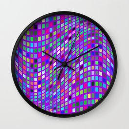 Lilac colorful Mosaic Wall Clock