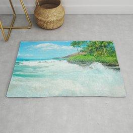 Aloha mai e Paako Beach Mākena Maui Hawaii Rug