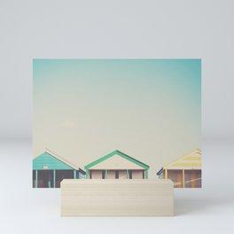 beach hut roofs ... Mini Art Print