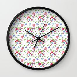 Whimsical Watercolor flowers Wall Clock