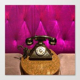 Vintage, Elegant French Telephone Canvas Print