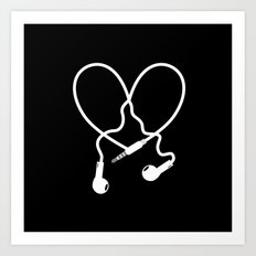 Love Music Headphones Art Print