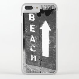 Beach Sign at Larabee State Park PNW Clear iPhone Case