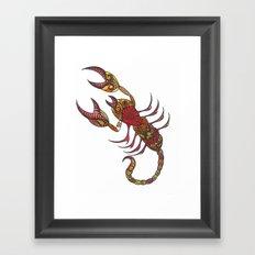 Tatoo Scorpion Framed Art Print