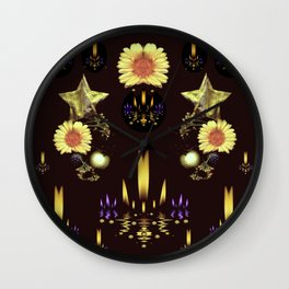 Stars Over The Sacred Sea Of Candles Wall Clock