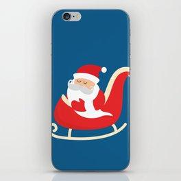 Merry Christmas Santa Claus Flying in his Sleigh iPhone Skin